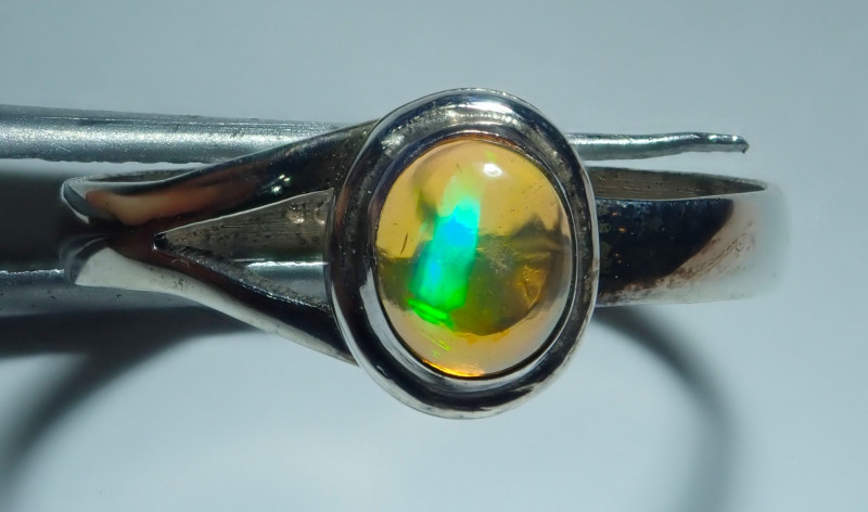 6.50size Natural MexicanOpal .925 Sterling Silver