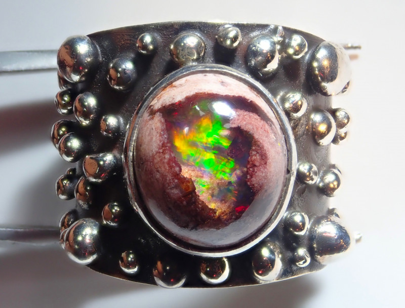 6.75size Natural Mexican Opal .925 Sterling Silver