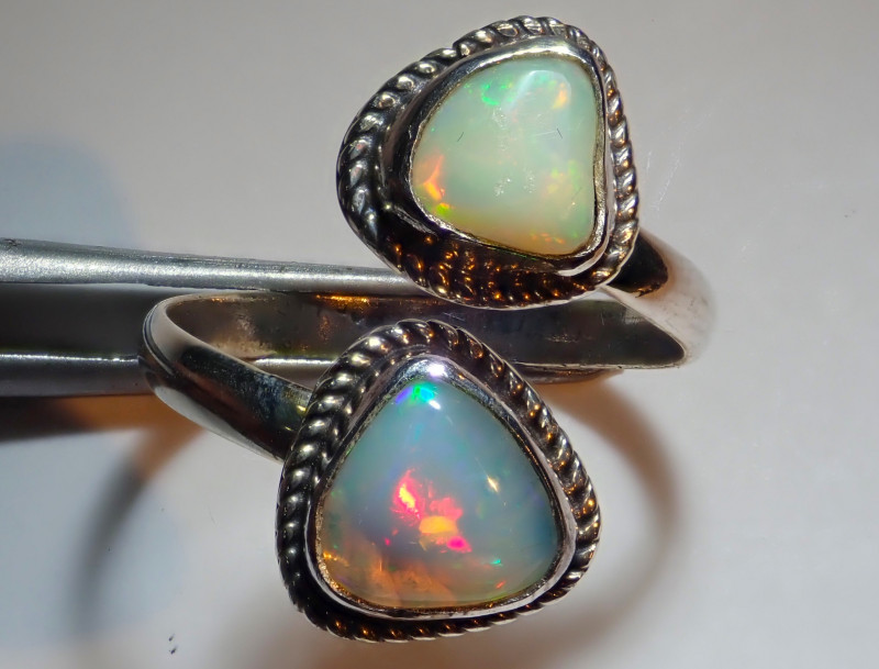 8.50size Natural Ethiopian Welo Opal .925 Sterling Silver