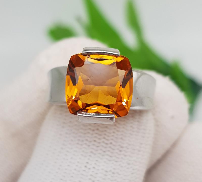 Natural Madeira Citrine 28.10 Carats Hand Made Ring