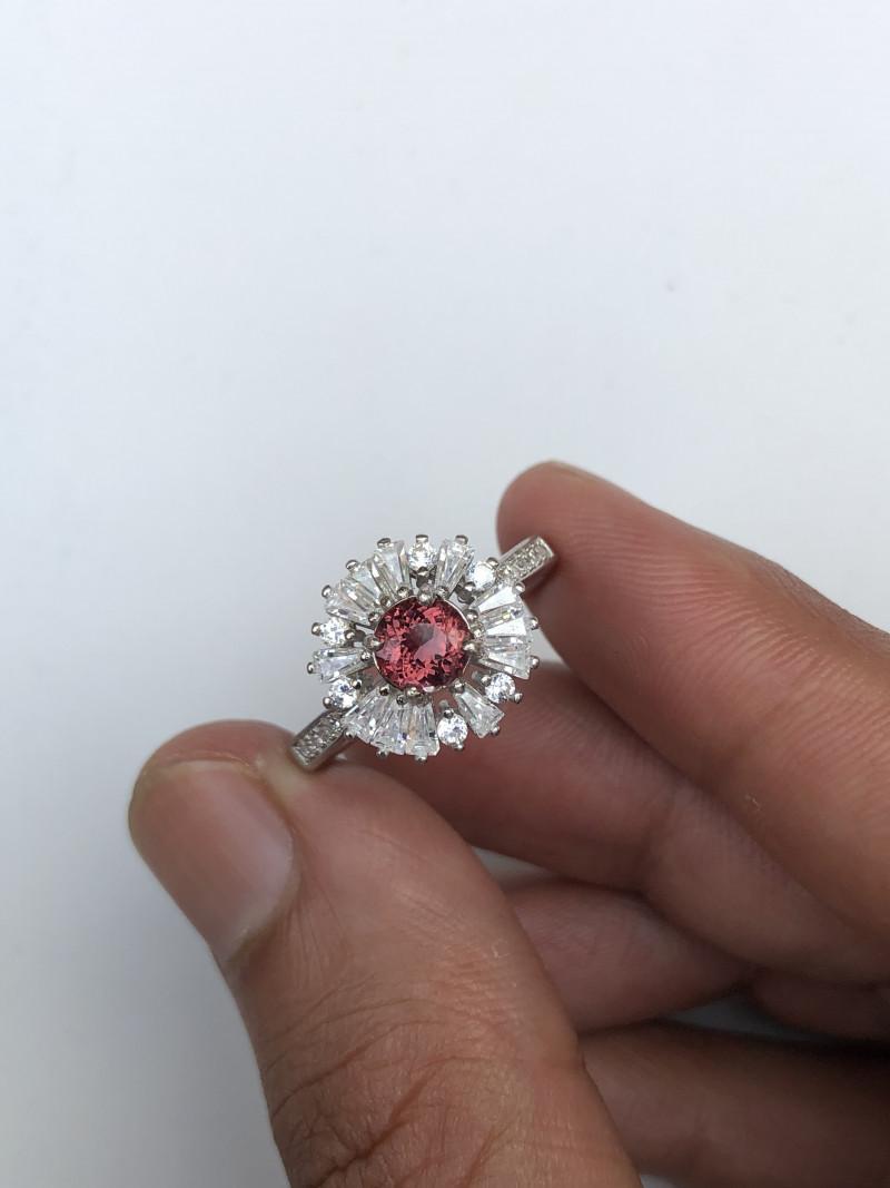 20.54 carats Transparent Tourmaline 925 Silver Ring