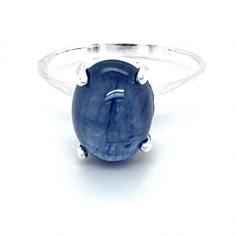 Blue Sapphire 8.30ct Platinum Finish Solid 925 Sterling Silver Ring