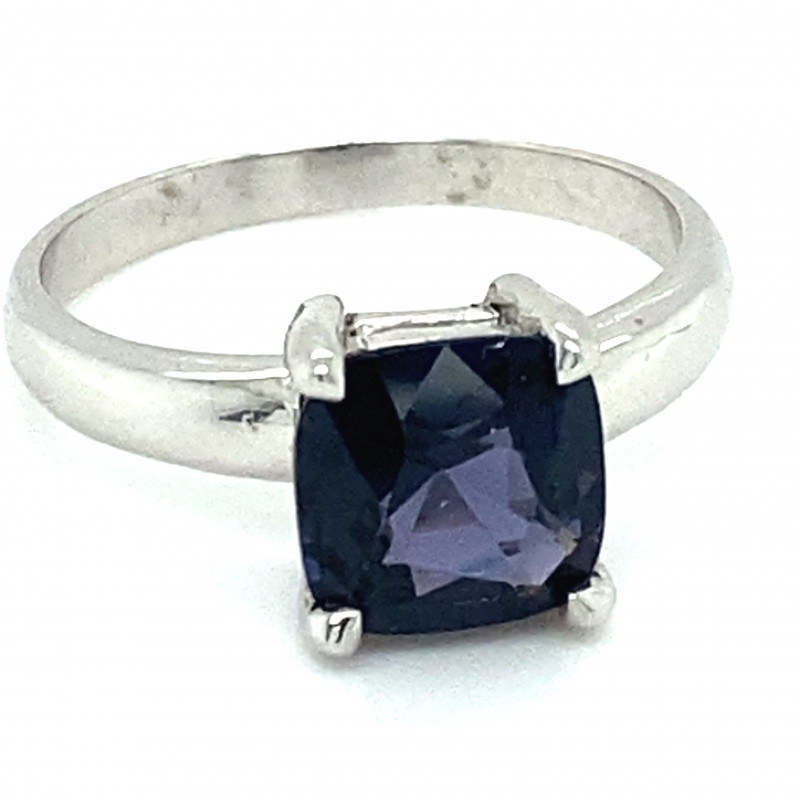 Blue Spinel 2.60ct Solid 14K White Gold Ring