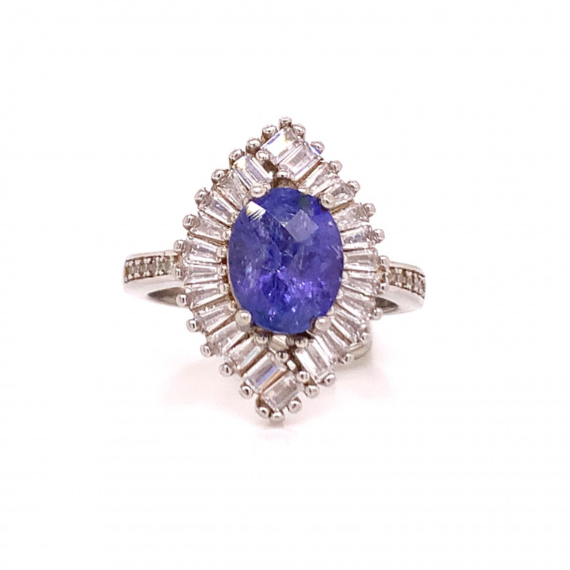 Attractive Natural Tanzanite Fancy ring