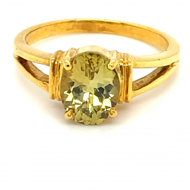 Chrysoberyl 2.19ct Solid 18K Yellow Gold Ring