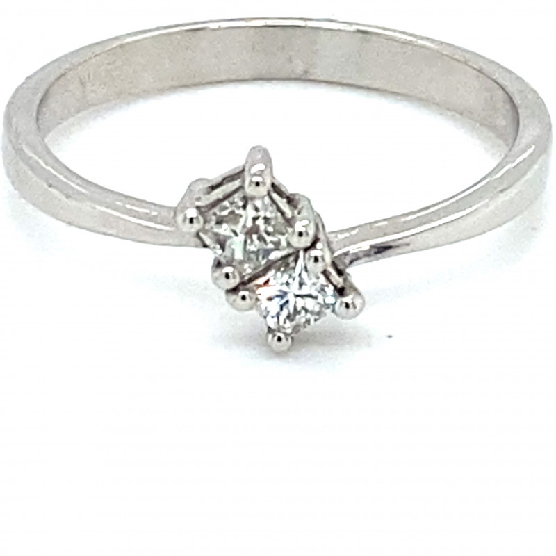 Diamond .40ct Solid 14K White Gold Ring