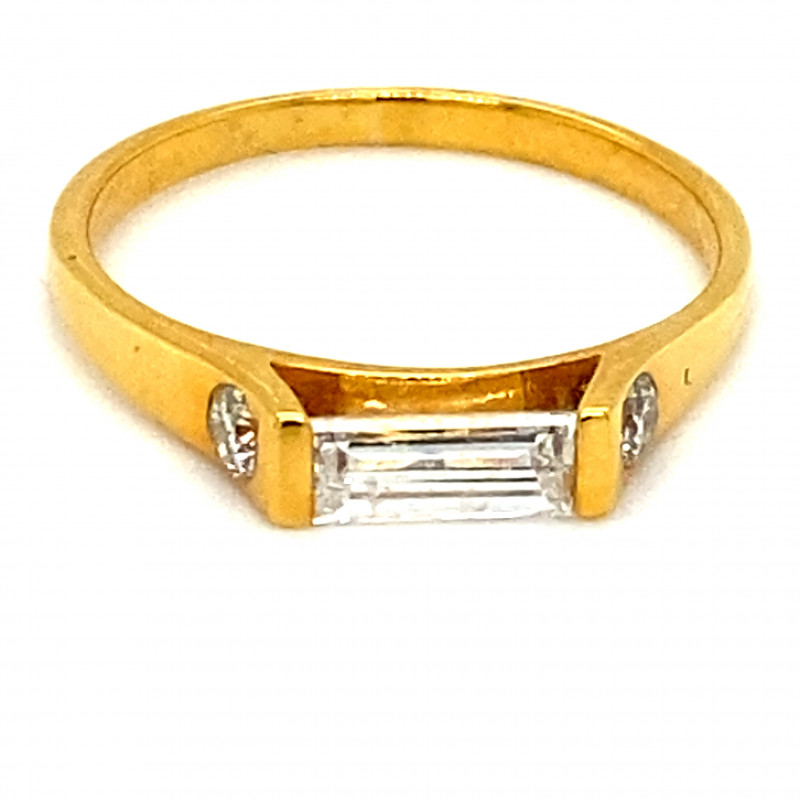 Diamonds .90ct Solid 14K Yellow Gold Ring