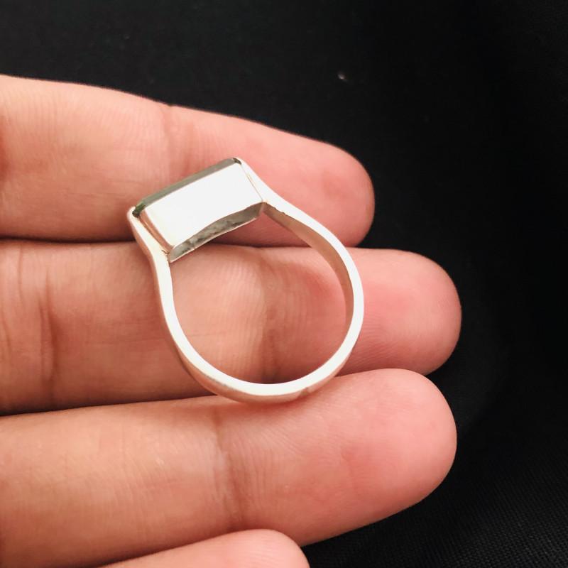 22 Carats Natural Mint Green Tourmaline Silver Ring
