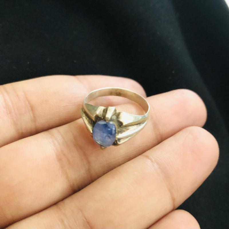 19 Carats Natural Sapphire Silver Ring
