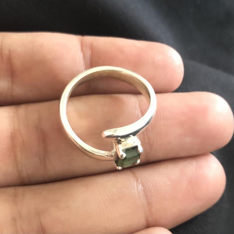 23 Carats Natural Tourmaline Silver Ring