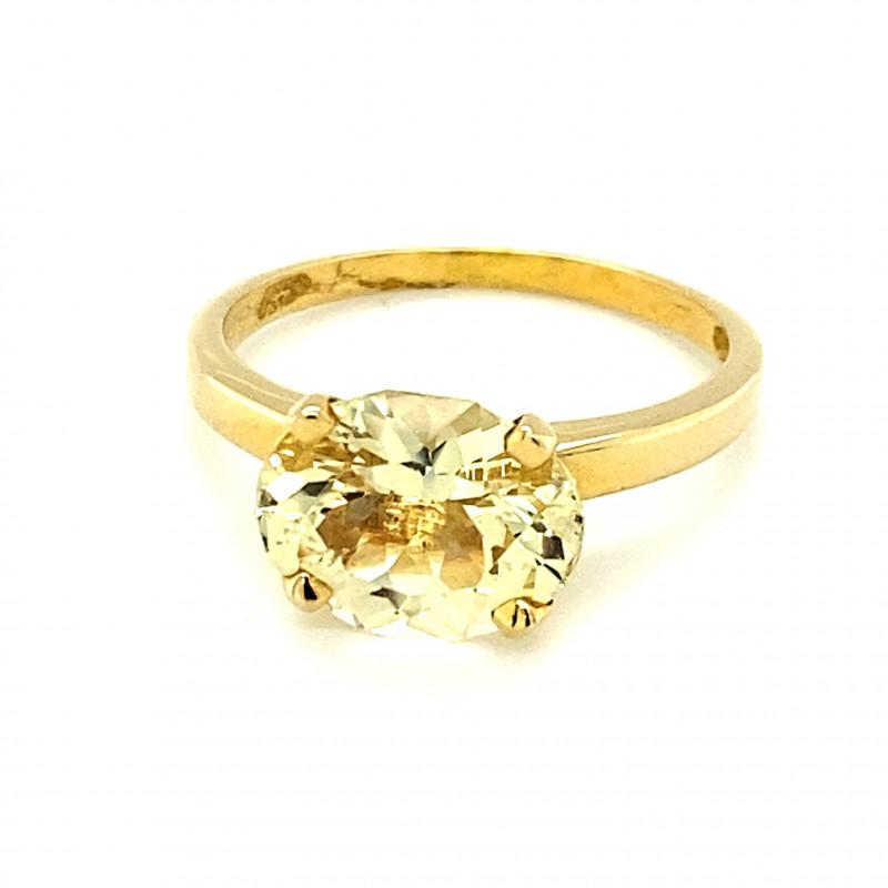 Laletema Yellow Grossular Garnet 3.02ct Solid 22K Yellow Gold Ring