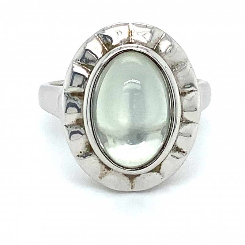 Moonstone 5.10ct Platinum Finish Solid 925 Sterling Silver Ring