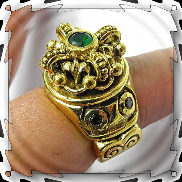 Thors Hammer Pendant,Big Celtic Wolf, Mjolnir, Silver Brass