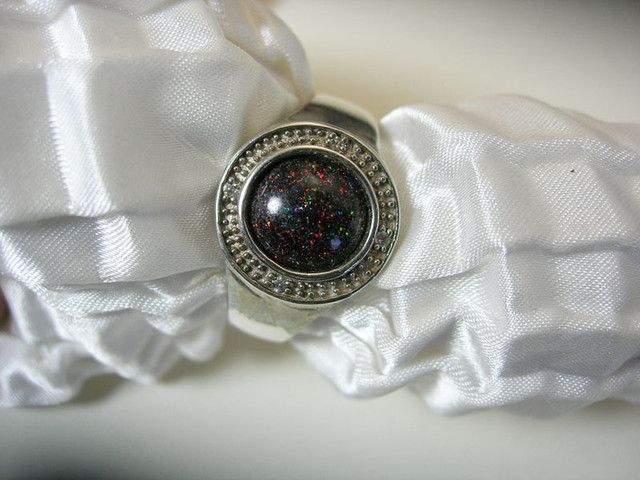 925 SILVER RING OPAL MATRIX Ring Size US10 #LMJ01