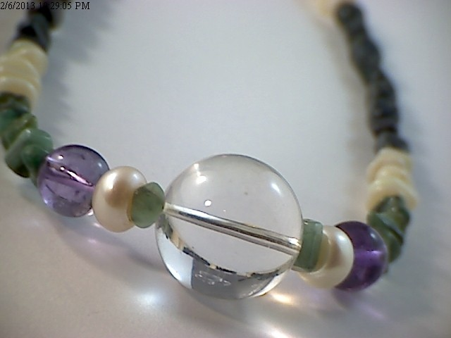 42 cm Australian Designer Opal Bead Necklace (A667)