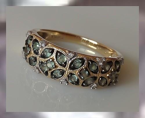 100% Natural Alexandrite Ring ~ Full Colour Change &14KT YG