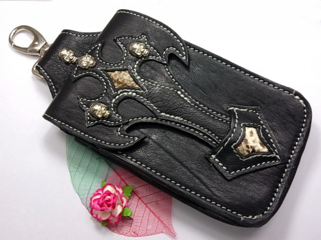 Soft Leather Dual Belt Pouch, For Apple Iphone, Ipod Touch