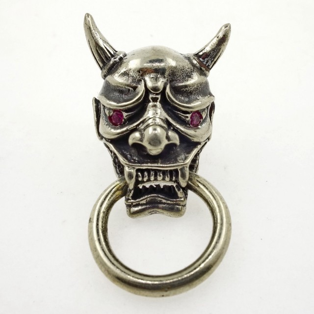 Wallet Chain Connector, Japan Noh Demon Mask Classic Design! Red Eyes