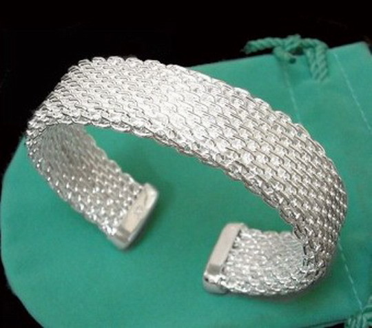 Gorgeous 925 Sterling Silver Bracelet - Wire Weave Design