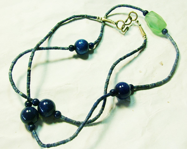 LAPIS BEAD NECKLACE 63CTS AS-1708