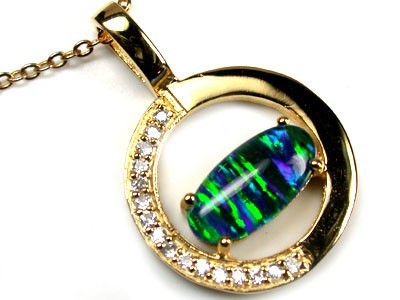 POPULAR FASHION OPAL PENDANTS RHODIUM PLATED MYJA 918
