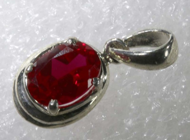 RUBY SILVER PENDANT 7.50 CTS SJ-51