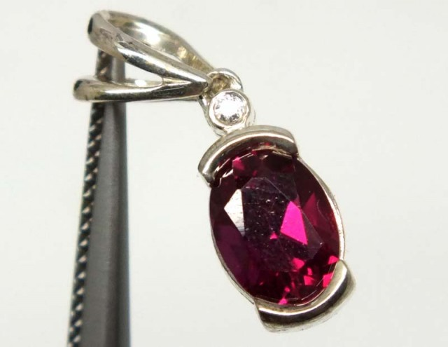 RUBY SILVER PENDANT 8.50CTS SJ-56
