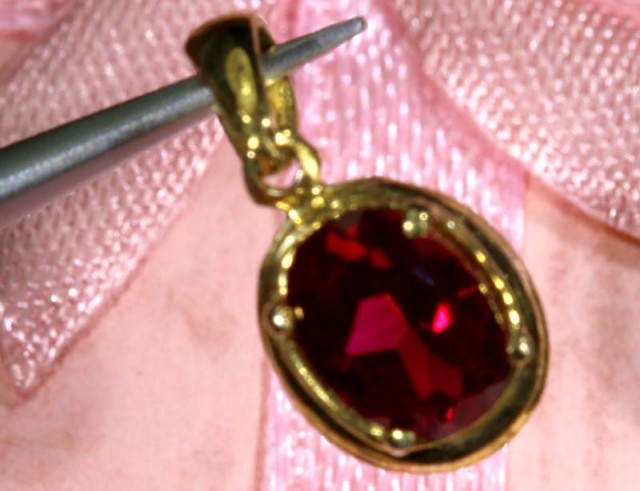 SPINEL SILVER PENDANT 3.90CTS SJ-66
