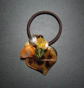 Heart shaped accessory hair tie