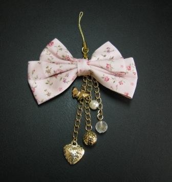 Bow tie mobile strap(pink)