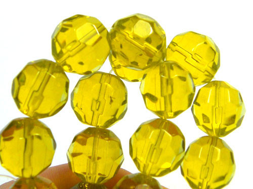 GOLDEN YELLOW STRAND BEADS 320 CARATS PG23 ML