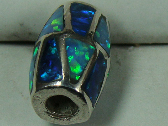 LAB OPAL INLAY BEAD DO-163