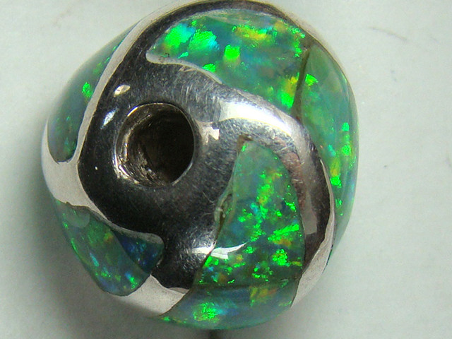 LAB OPAL INLAY BEAD DO-186