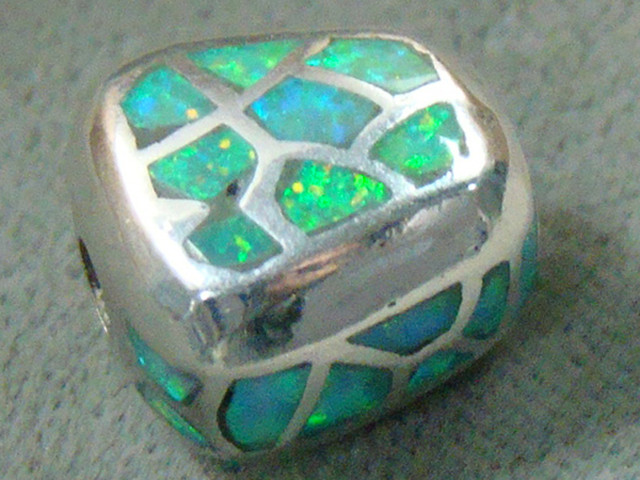 LAB OPAL INLAY BEAD SET IN STERLING SILVER  DO-207