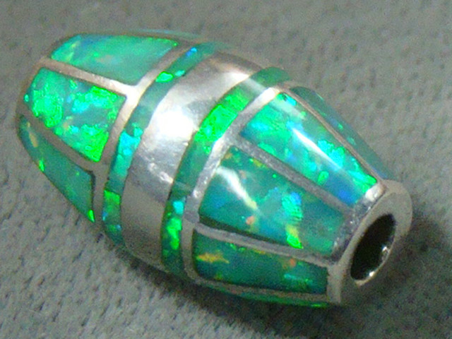 LAB OPAL INLAY BEAD SET IN STERLING SILVER  DO-210