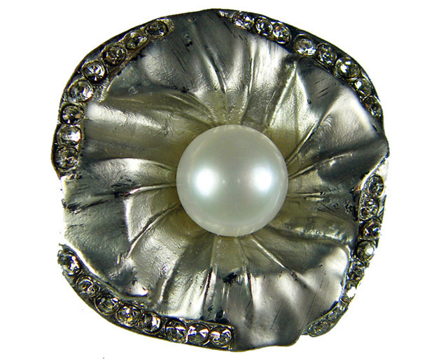 DESIGNED FRESHWATER PEARL PIN  62.9 CTS[SX01]