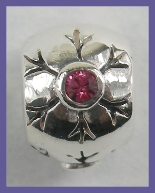 """""""BEAD CHARM - STERLING SILVER & PINK CRYSTAL BEAD"""""""