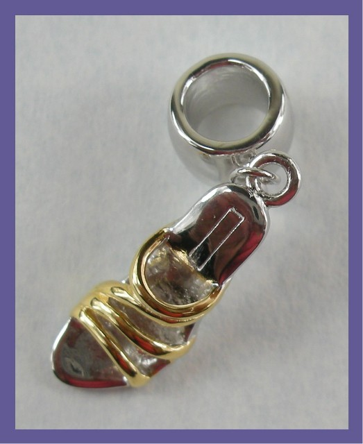 """BEAD CHARM - STERLING SILVER SANDAL"""