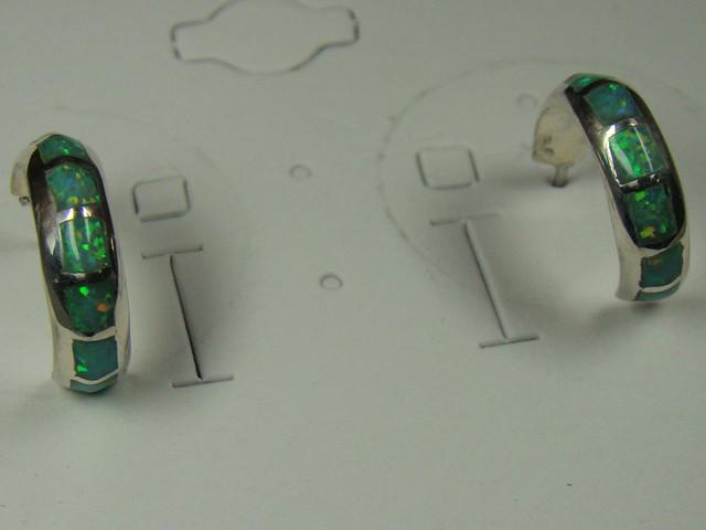 LAB OPAL INLAY EARRINGS  DO-154