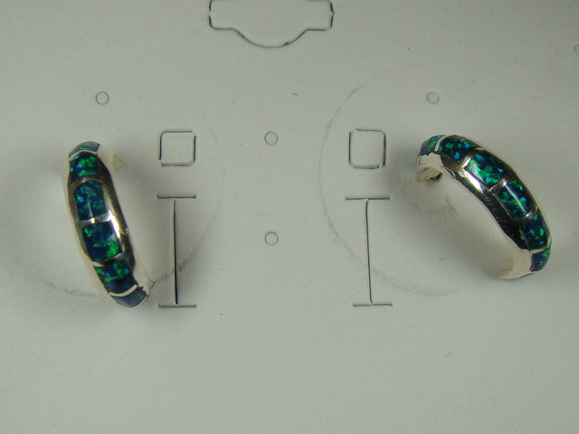 LAB OPAL INLAY  EARRINGS  DO-157