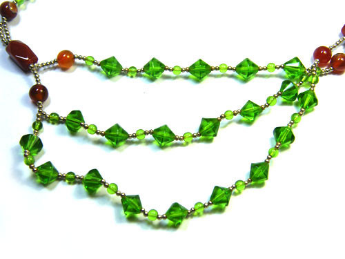 BEAUTIFUL GEMSTONE NECKLACE 195 CTS TR427