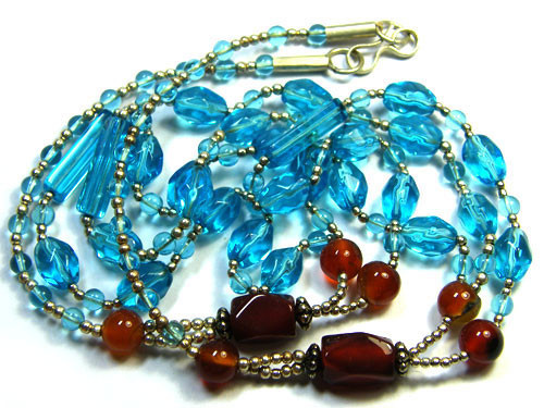 BEAUTIFUL GEMSTONE NECKLACE 215 CTS TR428