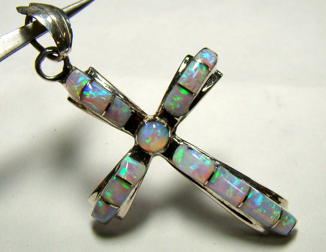 LAB OPAL INLAY PENDANT (OA1036)