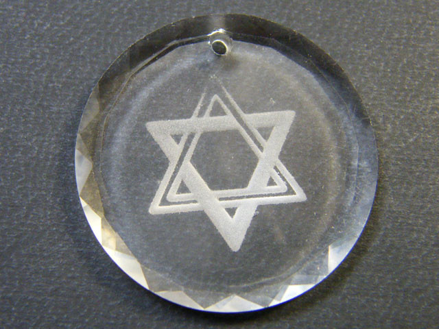 HIGH CLASS CRYSTAL STAR OF DAVID PENDANT 33.80 CTS SGS  721