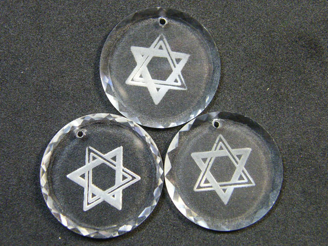 HIGH CLASS CRYSTAL STAR OF DAVID PENDANTS 91.30 CTS SGS  725