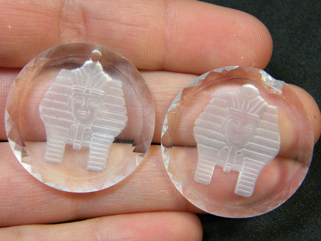 HIGH CLASS CRYSTAL SPHINX PENDANTS 55.10 CTS SGS  731