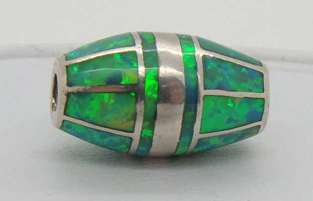 Sterling Silver & Lab Opal Bead JA-202