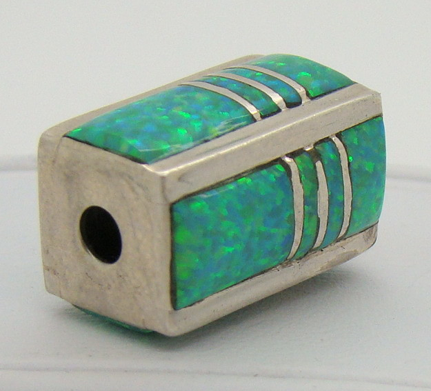 Sterling Silver & Lab Opal Bead JA-207