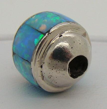 Sterling Silver & Lab Opal Bead JA-208