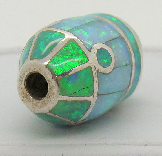 Sterling Silver & Lab Opal Bead JA-209